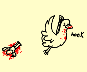 Duck kills caillou