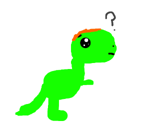 Confused Dino With hair