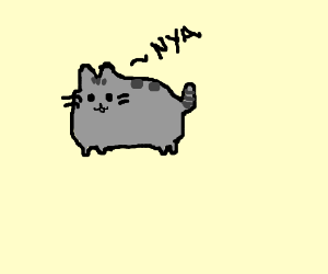 pusheen cat drawing by itzmeanna