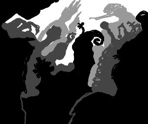 Strange silhouettes