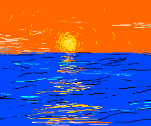 The sunset over water is the top game material