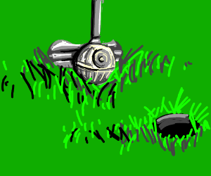 Death Star As Golf Ball Gets Hit By Putter