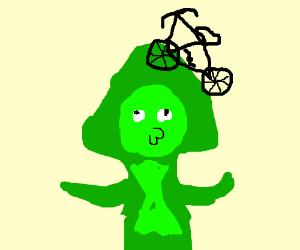 pendot with bike hair?