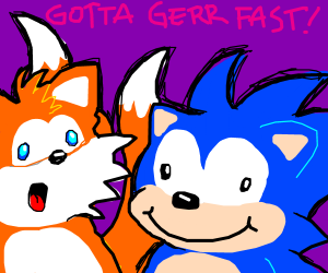 sanic and tails