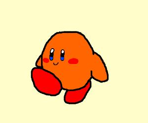 An orange kirby (AMAZINGLY DRAWN BRO!)