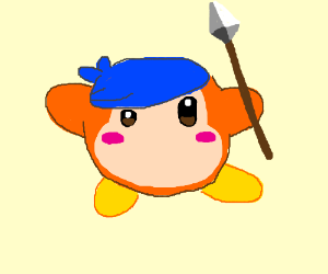 Waddle Dee with bandana and spear
