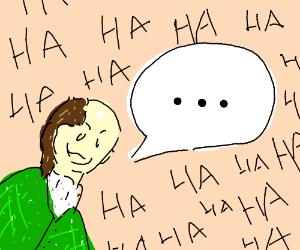 person telling a joke