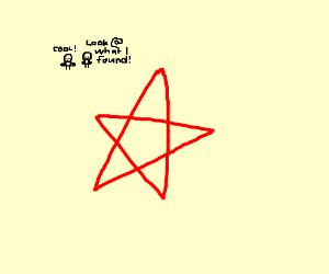 people find pentagram