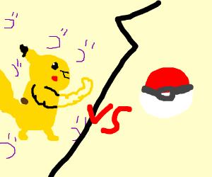 Buff Pikachu VS Pokeball