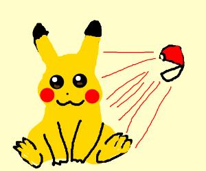 Catching a Pikachu