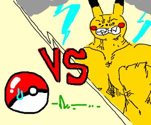 Pikachu hates pokeball