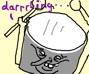 darrrrrllinnggg drumm man with a weird face