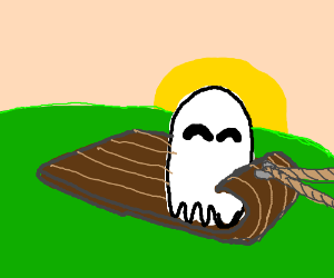 Ghost on dog sleigh (i cantdraw dogs aswell )
