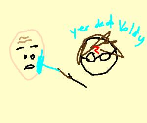 Harry kills Voldemort