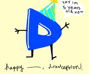 Happy 5th Birthday Drawception