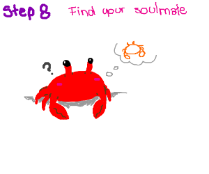 Step 7: crab dreams about a possible soulmate.