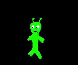 A sad alien