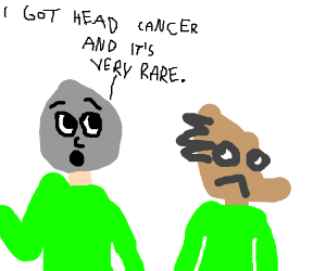 Stone head tells an ugly man about rare cancer