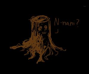 """Log says, """"n-nani?"""""""