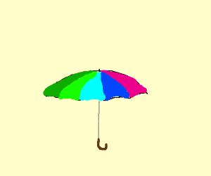 a colorfull umbrella