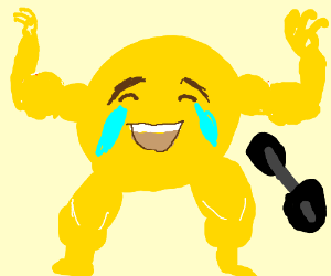 emoji with muscles