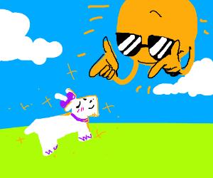 90ff1d254c0 dazzling gazelle meets neon sunrise - Drawception