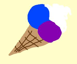 blue and purple ice cream