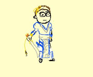 Morty wearing Kasumi(DoA) Cosplay