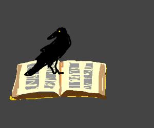 Raven loves poem by Poe