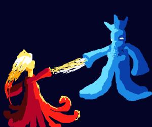 Ice King vs. Flame Princess