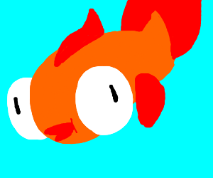 a well drawn koi fish