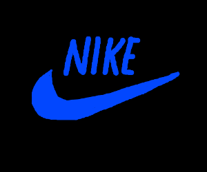 Blue Nike Sign Drawing By Latatapiola Drawception