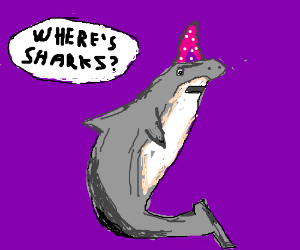 A shark that is late to Shark Week