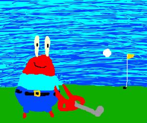 mr krabs has a stroke