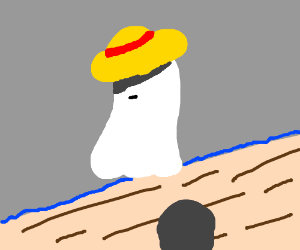Ghost with straw hat