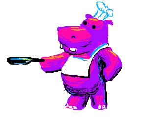 Hippo cooks!