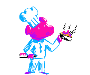 pig as a chef