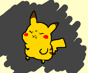 Pikachu holding his breathe (Cute Drawing!)