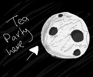 Tea party on the moon