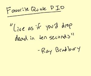 Favorite Quote PIO