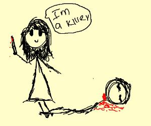 woman kills man smiling saying i'um a killer