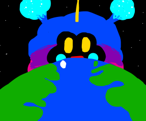 Nebby conquering Earth