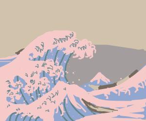 Kanagawa-oki nami ura - by Katsushika Hokusai