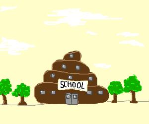 School is a pill of poop