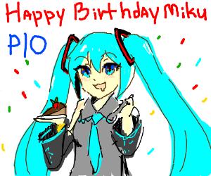Happy 10th birthday Hatsune Miku! (PIO)