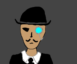 Fancy fancy Moustache with monocleandbolwerhat