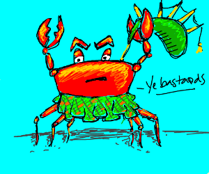 Scottish crab is angry
