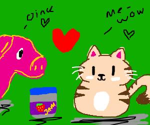 Image of: Codes Pig And Cat In Love Share Strawberry Jam Ebay Animal Jam Drawception