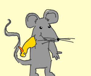 Mouse whose arm is a bird's head