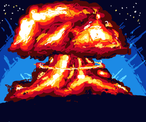 Real detailed explosion